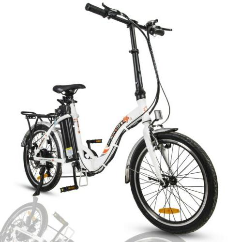 """ECOTRIC 20"""" FOLDING Electric eBike Removable 7 Speed"""