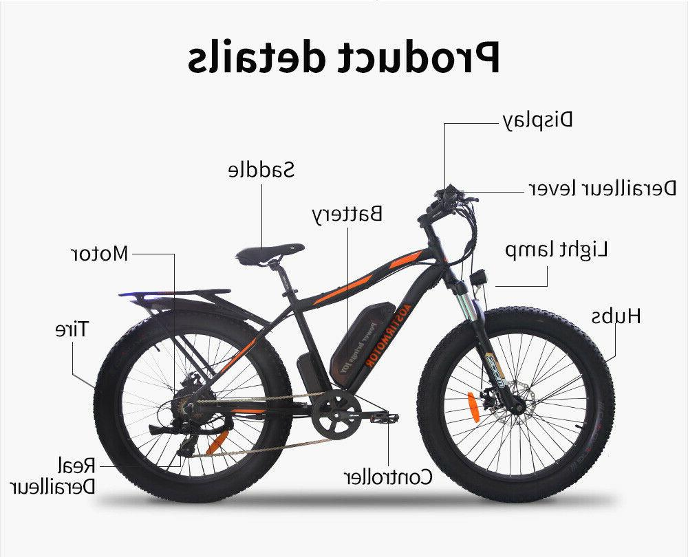 AOSTIRMOTOR Bike 26*4 Fat Ebike, S07-B