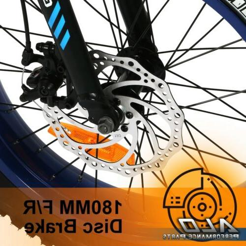 """Folding Electric Bicycle Snow Spe 20""""500W Fat"""