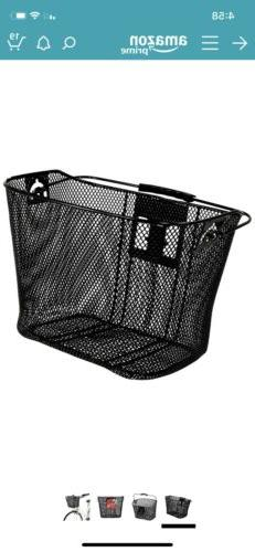 Bell Light Weight Black Wire Bicycle Basket 10 Inches Deep.