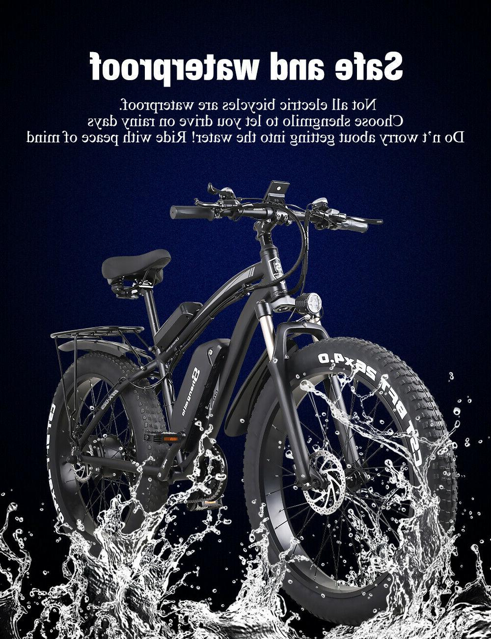 """New 26"""" 1000w 48v Bicycle tire suvs Mountain ebike Adult Moped"""