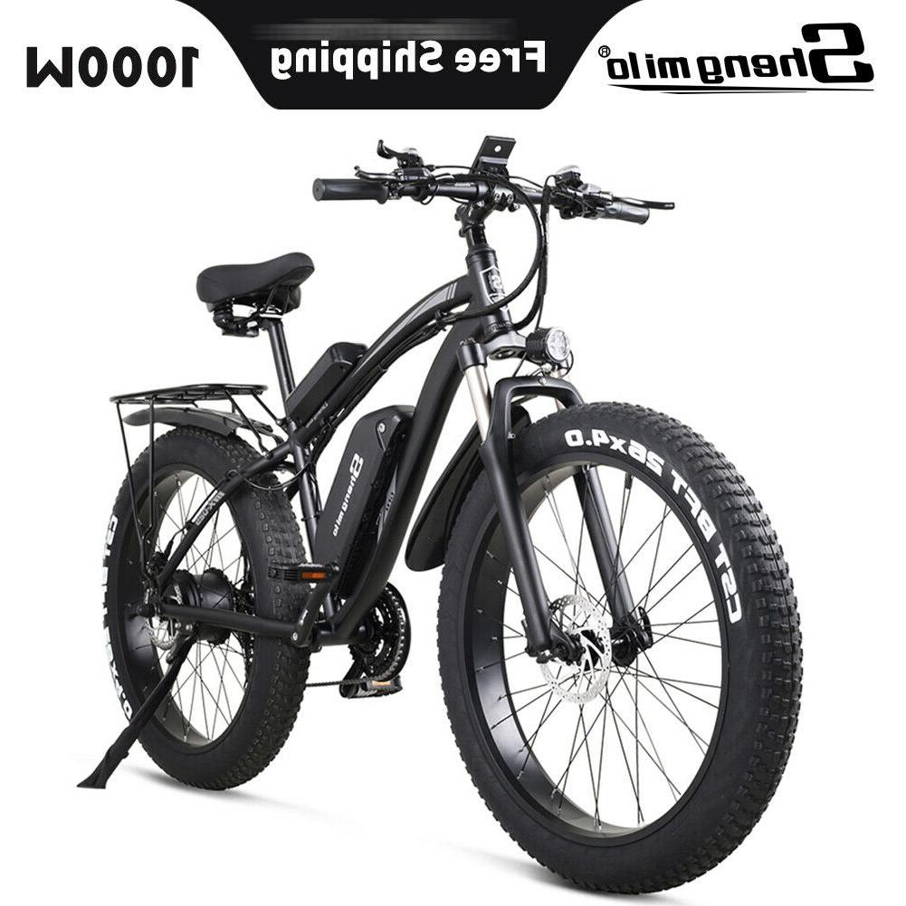 new 26 electric 1000w 48v bicycle fat