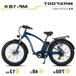 "MaxFoot MF-18 P Electric Bike 750W 26""Fat Tire Cruiser Bike"