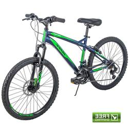 """Huffy Mountain Bike 24"""" Blue Front Suspension Men Bicycle"""