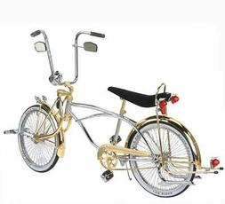 """NEW 20"""" LOWRIDER BIKE CHROME-GOLD WITH 72 SPOKES !"""