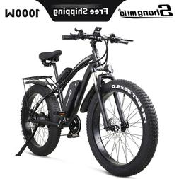 """New 26"""" Electric 1000w 48v Bicycle Fat tire suvs Mountain eb"""