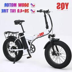 New 500W snow  mountain electric bike 20inch 4.0 fat tire eb