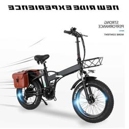 New folding Ebike fully equipped w/basket and rear rack elec