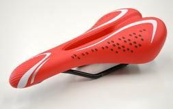 New Red/White Seat Saddle for Mountain Bike Road Bike Bicycl