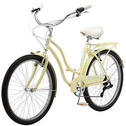 "Schwinn Perla Women's Cruiser 26"" Wheel Bicycle, Yellow, 16"