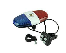Police Car Bike Light Bell - 6 LED Light and 4 Sounds Bicycl