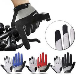Road Mountain Bike Cycling Full Finger Gloves MTB BMX Bicycl