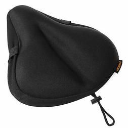 Silicone Gel Soft Bike Seat Cover Padded Cushion Cycle Mount