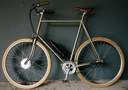 small e bike conversion with vintage frame