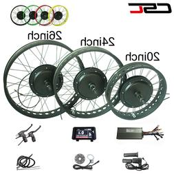 snow ebike Conversion Kit Bluetooth 48V 1000W 4.0 Tyre fat b