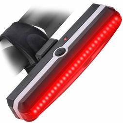USB Rechargeable Bicycle Tail Light Rear LED Helmet Bike Cyc
