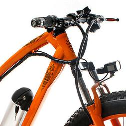 Vintage Bike Tattoo Decals Accessory for Ebikes, Motorized B