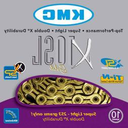 KMC X10SL-116L 10 Speed Bike Chain - Gold